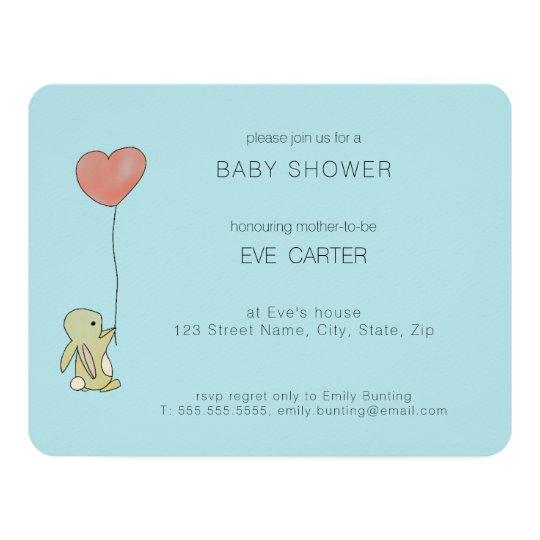 Roo Bunny - Heart Balloon Card