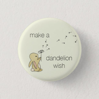Roo Bunny - Make a Dandelion Wish 1 Inch Round Button