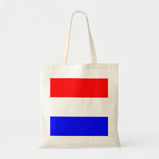 Rood-wit-blauw pile up with budget tote bag