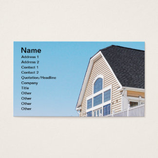 roof and exterior of a modern building business card