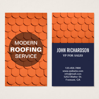 Roof Construction | Professional Roofing Service Business Card