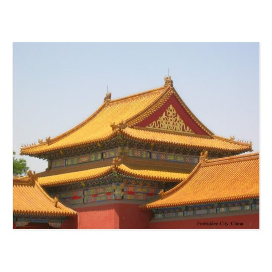 Roof from The Forbidden City Postcard