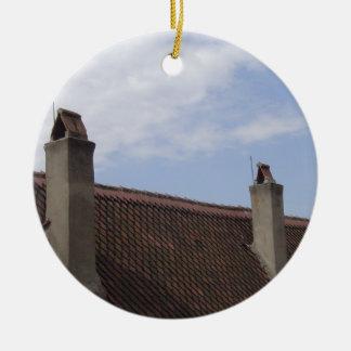 Roof Line Ceramic Ornament