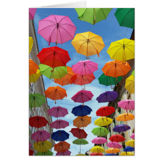 Roof of umbrellas card