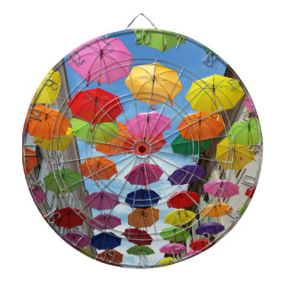 Roof of umbrellas dartboard