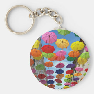 Roof of umbrellas keychain