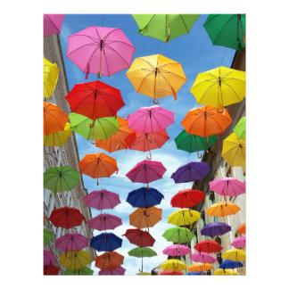 Roof of umbrellas letterhead