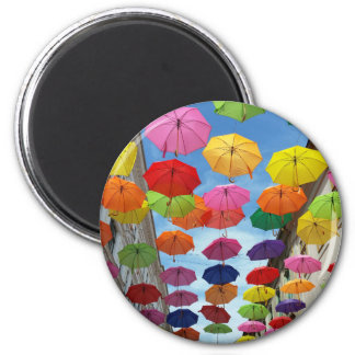 Roof of umbrellas magnet