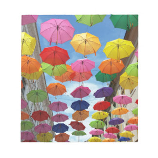 Roof of umbrellas notepad