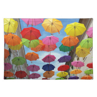 Roof of umbrellas placemat