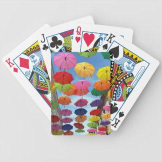 Roof of umbrellas poker deck