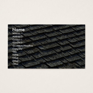 Roof shingles business card