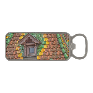 roof tiles with color in Obernai - Alsace - France Magnetic Bottle Opener