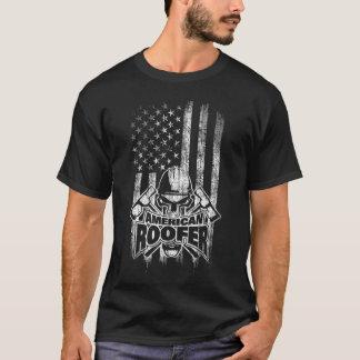 Roofer American Flag T-Shirt