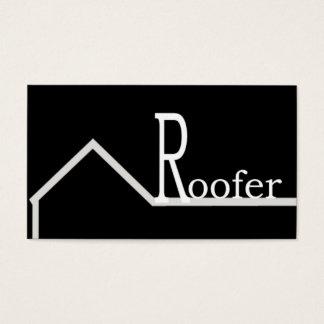 Roofer Business Card Black