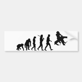Roofer Roof layer and Roof Carpenter evolution Bumper Sticker