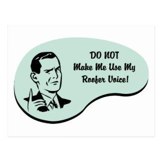 Roofer Voice Postcard