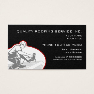 Roofing And Construction Services Business Card