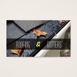 Roofing and Gutters business card