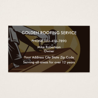 Roofing Contractors Business Card