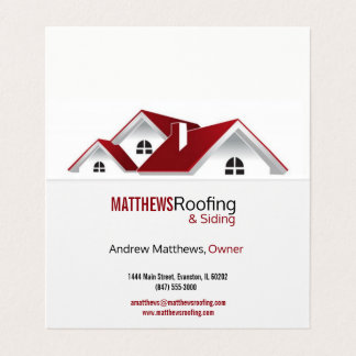 roofing folded business card