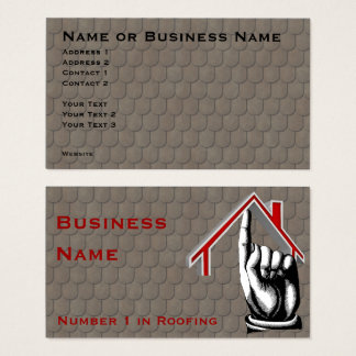 Roofing Number 1 Business Card