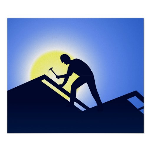 Roofing Poster Zazzle Ca