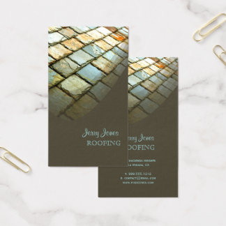Roofing, Slate Roof, Photo Business Card
