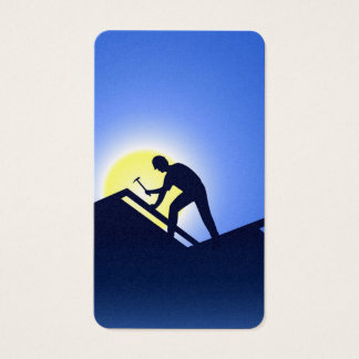 Roofing Worker Business Card