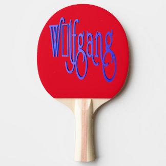 Roofridge name Wolfgang Ping Pong Paddle