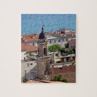 Roofs and Basilica at Menton in France Jigsaw Puzzle