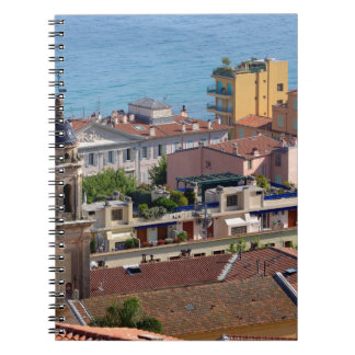 Roofs and Basilica at Menton in France Notebook