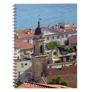 Roofs and Basilica at Menton in France Notebooks