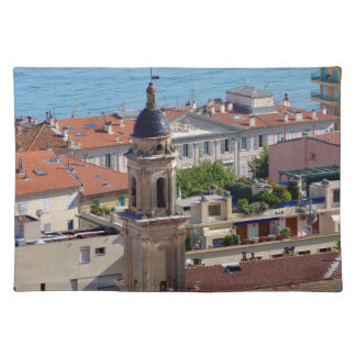 Roofs and Basilica at Menton in France Placemat