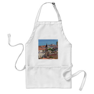 Roofs and Basilica at Menton in France Standard Apron