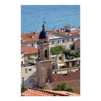 Roofs and Basilica at Menton in France Stationery