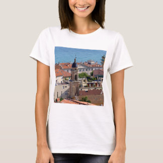 Roofs and Basilica at Menton in France T-Shirt