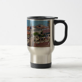 Roofs and Basilica at Menton in France Travel Mug
