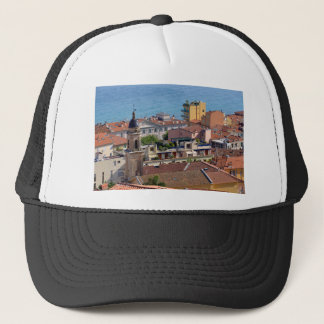 Roofs and Basilica at Menton in France Trucker Hat