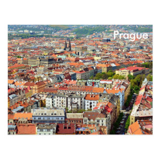 Roofs of Prague Post Card