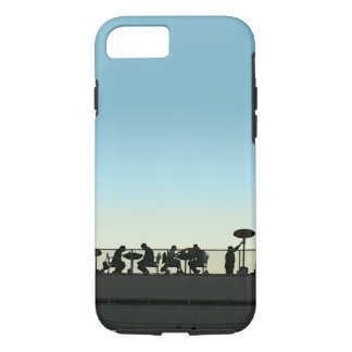 Rooftop Dining At Dusk Silhouette iPhone 8/7 Case