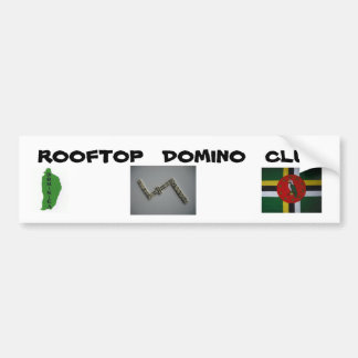 rooftop domino club sticker bumper sticker