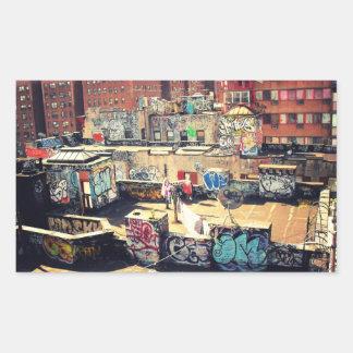 Rooftop Graffiti in Chinatown Sticker