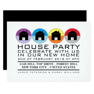 Rooftop Icons, Housewarming Party, House Party Card