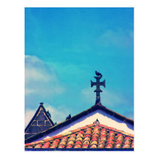 Rooftop Visitors : Funchal, Madeira (Portugal) Postcard