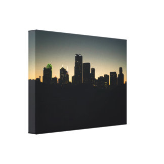 Rooftop with a View - Dallas Skyline Canvas Print