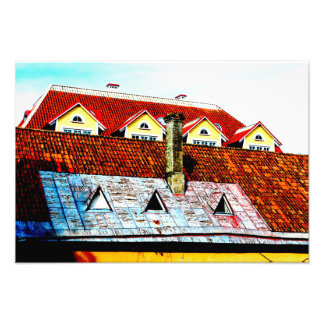 Rooftops from Tallin, Estonia Photo Print