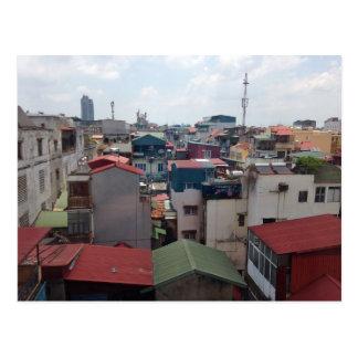 Rooftops in Hanoi Postcard