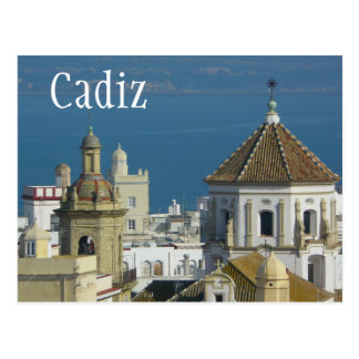 Rooftops, Mediterranean Sea, Cadiz, Spain Postcard