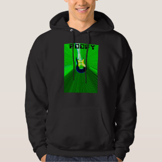 Roofy hoodie black with green logo